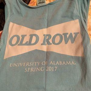 Old row tank top University of Alabama
